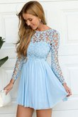 Robe de graduation simple naturel bref de princesse ligne a
