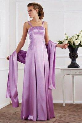 7721038e2c Clasico Vestido de Madrina de Corte-A de Escote de Tirantes Espaguetis de  Abalorio