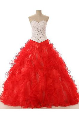 Abito Quinceanera Ball Gown monospalla Cuore con Applique in Paillette con paillette