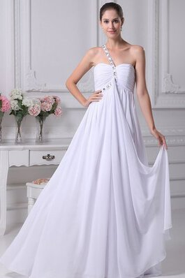 Robe de mariée simple nature sans empire ruché de col en cœur