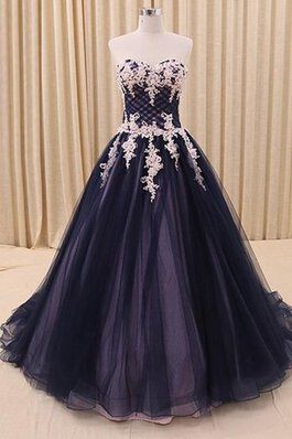 Abito Quinceanera Ball Gown in Paillette A Terra con Increspature in Organza Cuore