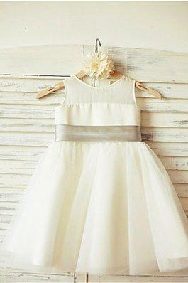 b9e63f3022eaa Robe de cortège enfant naturel avec sans manches avec fleurs en tulle avec  zip