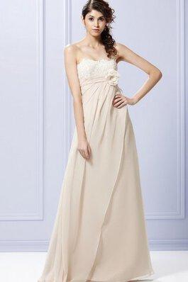 8492ad8e32 Vestido de Dama de Honor de Drapeado de Lazos de Escote sin tirantes de  Flores
