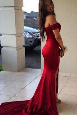 19e6aef16d Elegante Vestido de Noche de Apertura Frontal de Escote con Hombros caídos