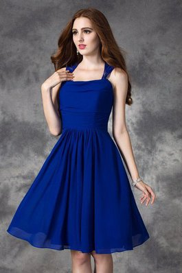 1d5794d4fa Vestido de Dama de Honor de Corte-A de Natural de Tiras anchas de Sin