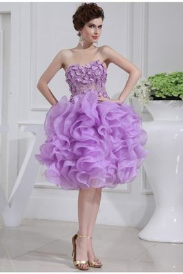 Normale Taille A-Linie Organza Prinzessin Mini Cocktailkleid