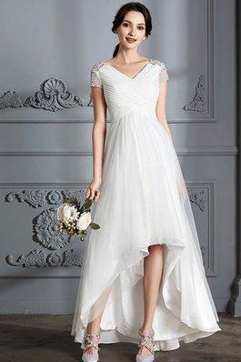 Vestido novia con manga corta