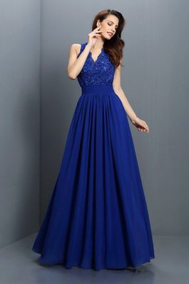 Vestido azul corte princesa
