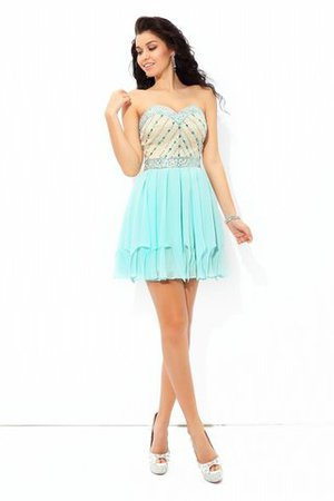 Robe de cocktail sexy formelle avec zip avec perle de princesse - Photo 5