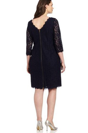 Robe de cocktail luxueux facile avec zip en 3/4 manche en forme - Photo 2