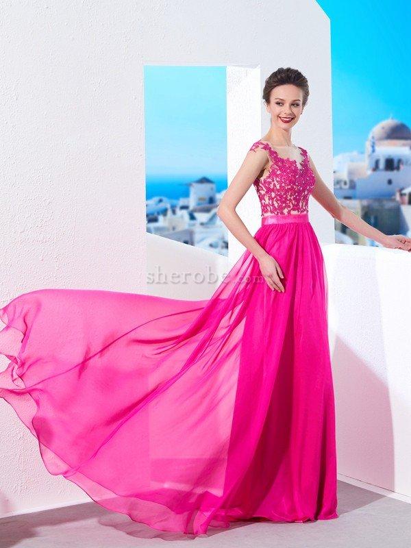 0ac602a5a6e Robe de soirée femme branché de traîne courte manche nulle de princesse a- ligne ...
