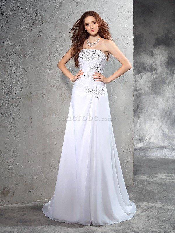 ae224c5c0 Elegante Vestido de Novia de Cordón de Abalorio de Cola Barriba ...