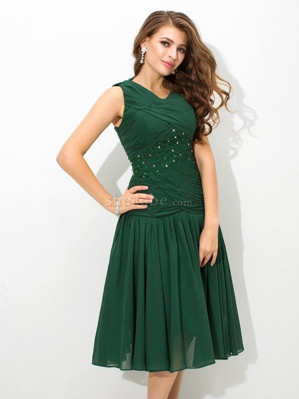 Vestido De Fiesta De Corte Princesa En Gasa De Corto De