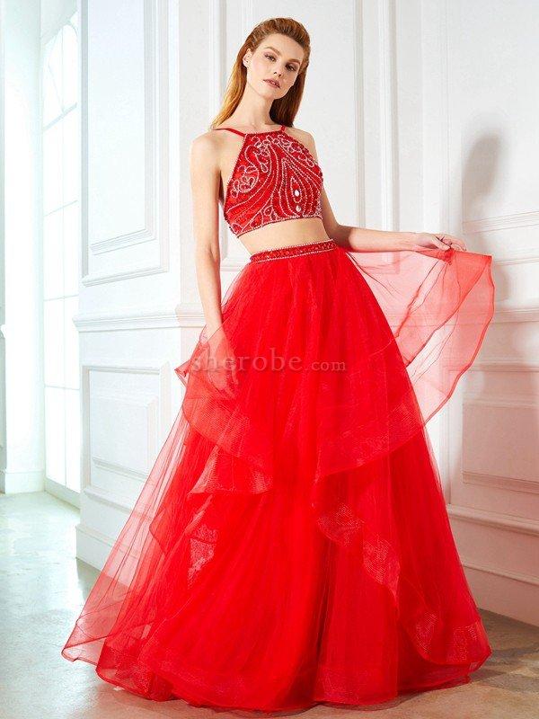 2cf2e3c1c021 Vestido de Noche de Escote de Tirantes Espaguetis de Largo de ...