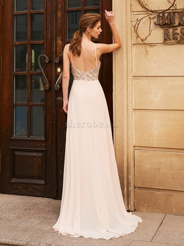 9ff8b77e020f Vestido de Noche de Corte princesa de Largo de Escote de Tirantes ...