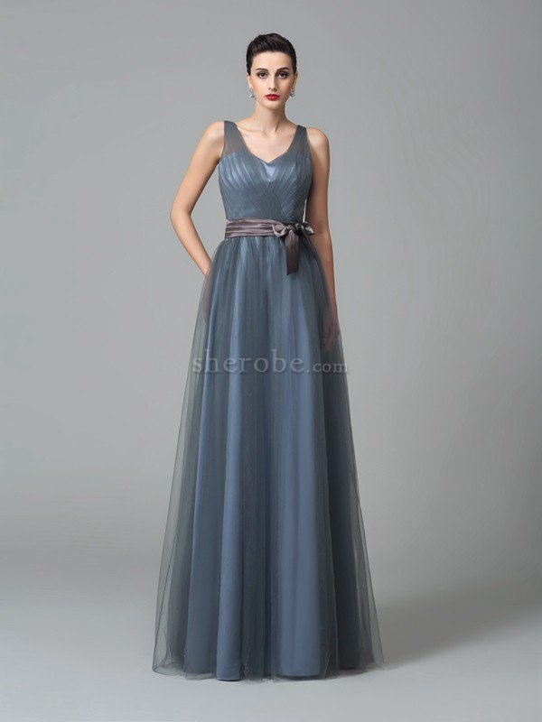 Vestido De Dama De Honor De Corte Princesa De Largo De