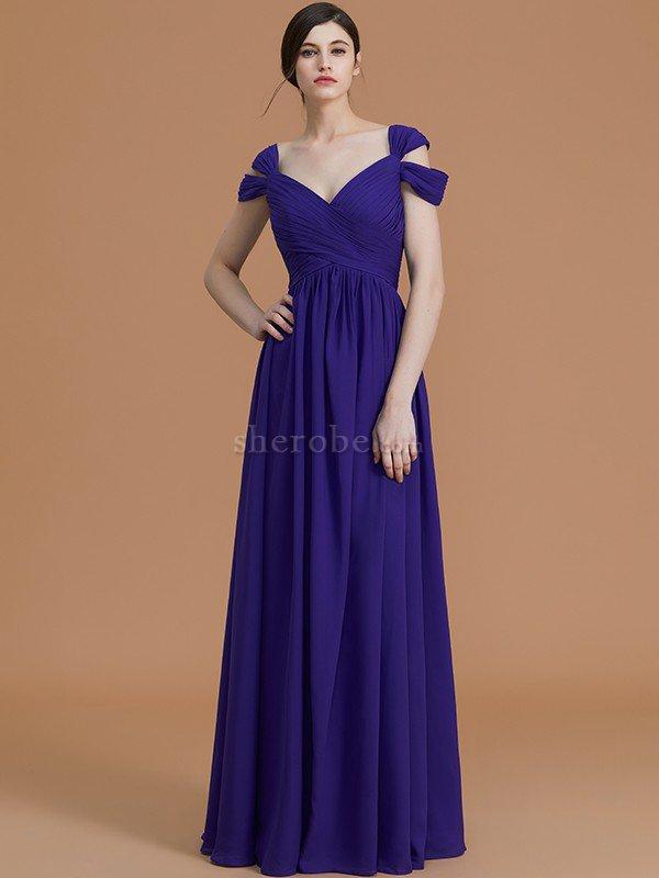 Vestido de Dama de Honor en Gasa de Sin mangas de Natural de ...