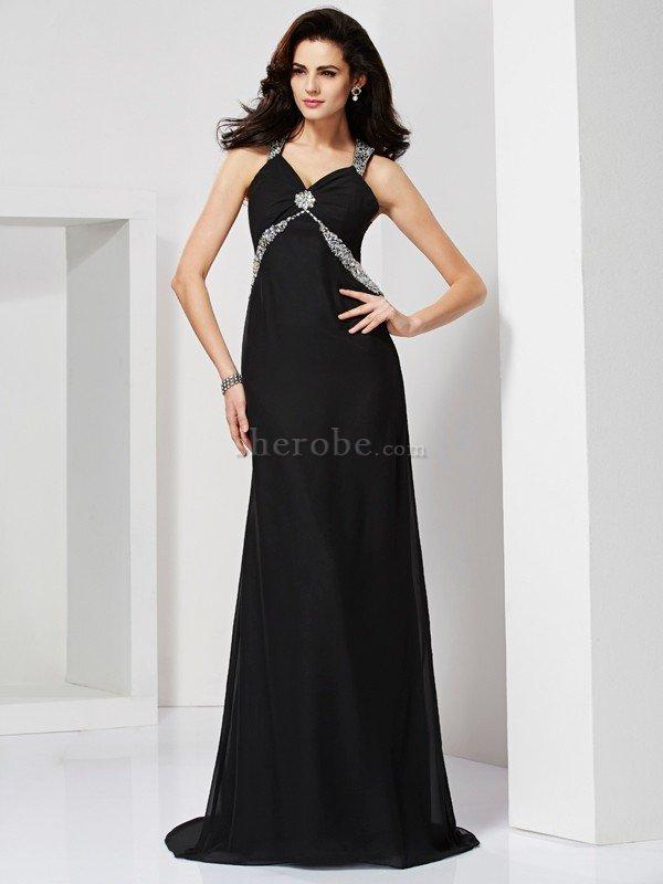 0abcc5e4ab30 Vestido de Noche de Largo de Escote de Tirantes Espaguetis de ...