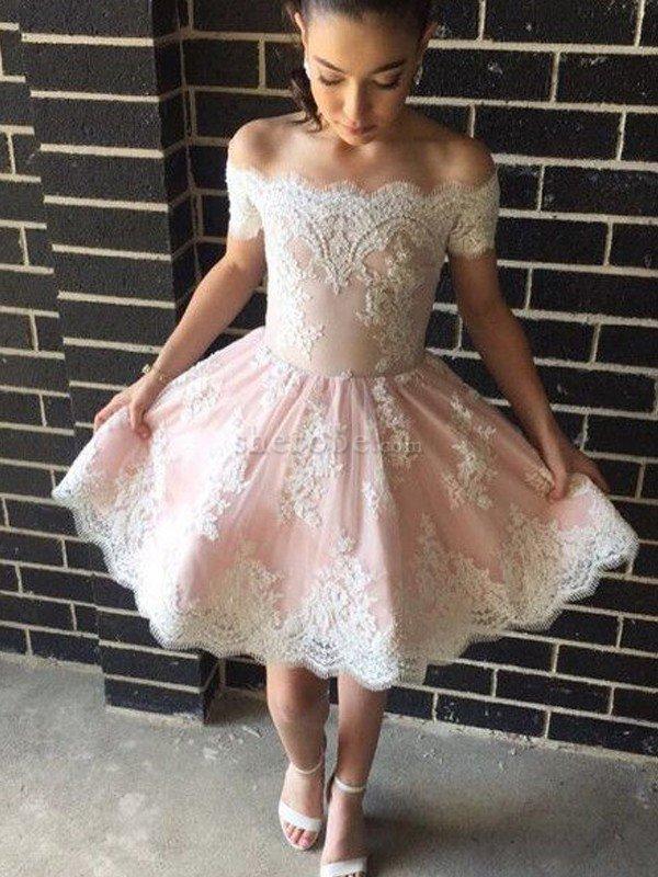 elige mejor compra genuina duradero en uso Vestido de Graduacion de Escote con Hombros caídos de Corto ...