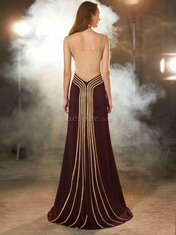 8da3d508ca32 Vestido de Noche de Corte Recto de Escote de Tirantes Espaguetis de ...