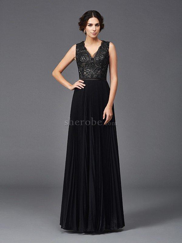e285600b94 ... Vestido de Madrina de Corte princesa de Escote en V de Encaje Adorno de  Largo