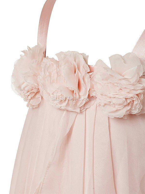 625da3c785a21 ... Robe de cortège enfant naturel ligne a grandes bretelles manche nulle  avec fleurs