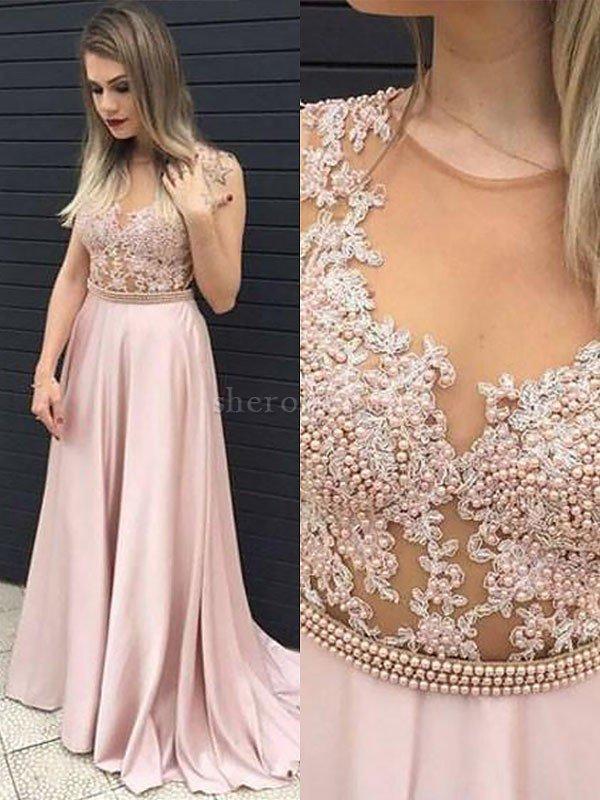 Vestido De Noche De Corte Princesa De Corte A En Satén De
