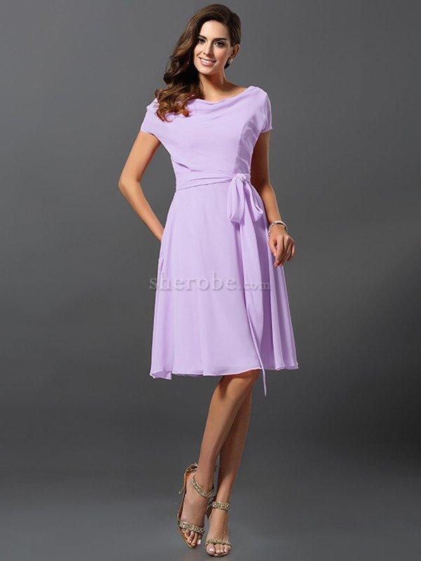 Vestido de Dama de Honor de Corte princesa de Corto de Escote ...
