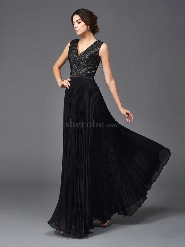 63b8d06d90 ... Vestido de Madrina de Corte princesa de Escote en V de Encaje Adorno de  Largo ...