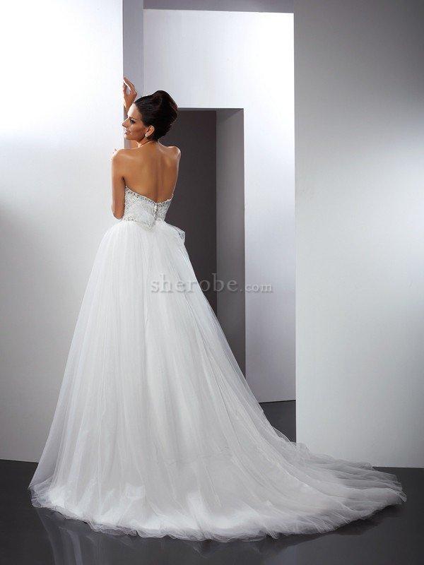 96e79b80b7a1 Abito da Sposa Principessa Elegante Alta Vita Conotta con Perline ...