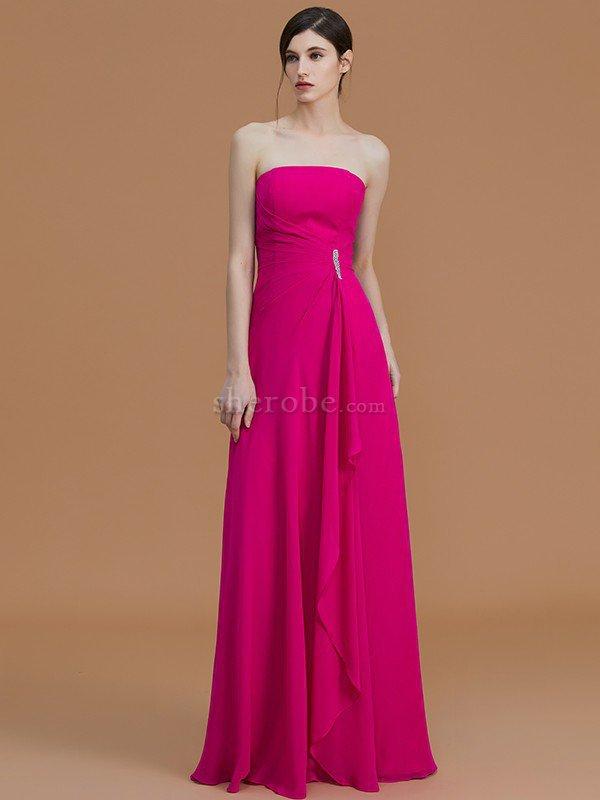 Vestido de Dama de Honor de Corte princesa de Volante de Escote sin ...