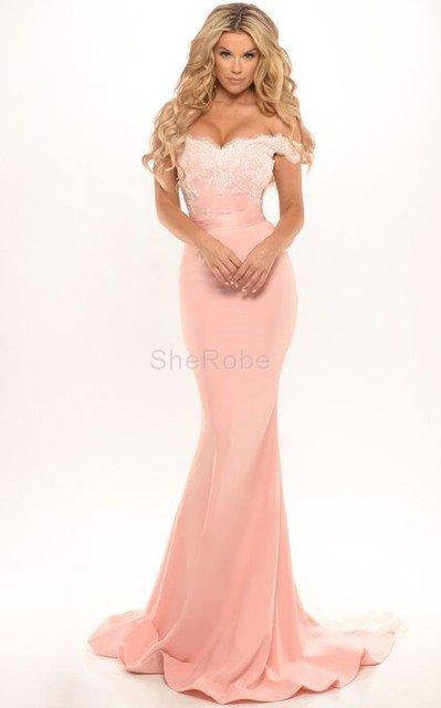 aed389d6e5 Elegante Vestido de Noche de Corte Sirena en Gasa de Espalda Descubierta ...