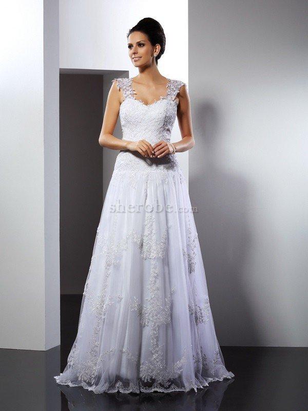c5d196fac Vestido de Novia de Corte princesa de Imperio Cintura de Encaje Adorno ...